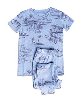 PJ Salvage - Unisex Tropical-Print Pajama Set - Little Kid, Big Kid