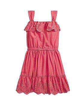 Ralph Lauren - Girls' Cotton Eyelet Ruffled Dress - Little Kid