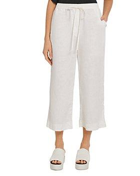 DKNY - Linen Wide Leg Cropped Pants