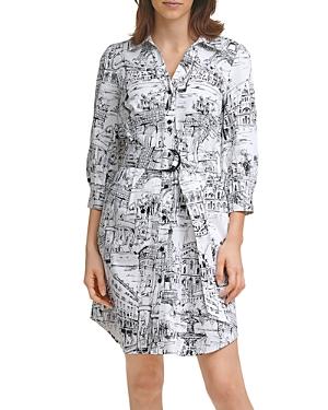 Karl Lagerfeld Paris Printed Shirt Dress