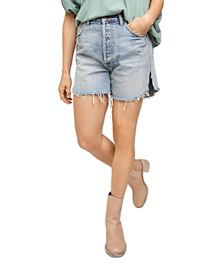Free People Denims BAGGY TOMBOY DENIM CUTOFF SHORTS IN ABOVE AND BEYOND