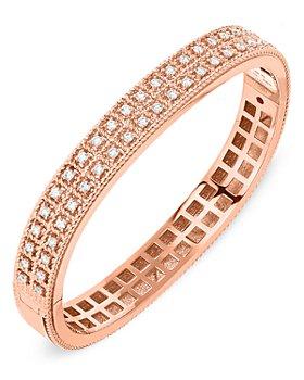 Roberto Coin - 18K Rose Gold Byzantine Barocco Diamond Bangle Bracelet