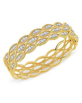 Roberto Coin - 18K Yellow Gold New Barocco Diamond Bangle Bracelet
