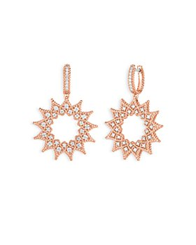 Roberto Coin - 18K Rose Gold Roman Barocco Diamond Medium Drop Earrings