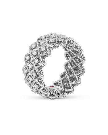 Roberto Coin - 18K White Gold Roman Barocco Diamond Ring