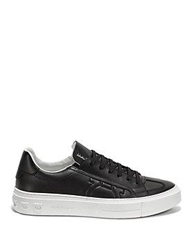 Salvatore Ferragamo - Men's Borg Gancini Leather Sneakers