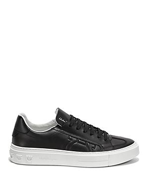Salvatore Ferragamo Men's Borg Gancini Leather Sneakers