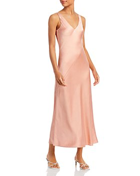 Line & Dot - Jenn Sleeveless Satin Midi Dress
