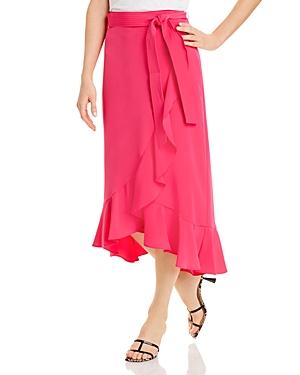 Karl Lagerfeld Paris Ruffled Faux Wrap Skirt