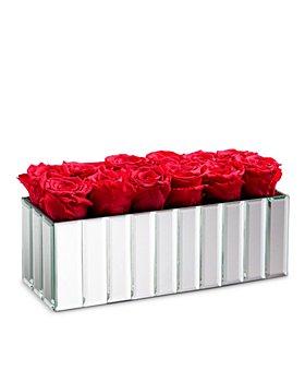 Rose Box NYC - 18 Rose Modern Mirrored Centerpiece