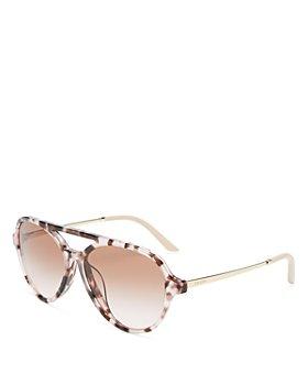 Prada - Women's Brow Bar Aviator Sunglasses, 57mm