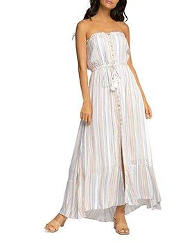 Elan - Strapless Striped Dress