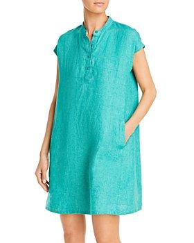 Eileen Fisher - Band Collar Linen Dress