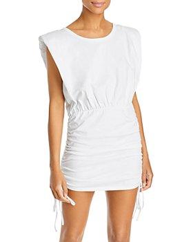 Bardot - Toni Ruched Shoulder Pad Mini Dress