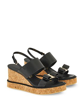 Salvatore Ferragamo - Women's Slip On Slingback Wedge Sandals