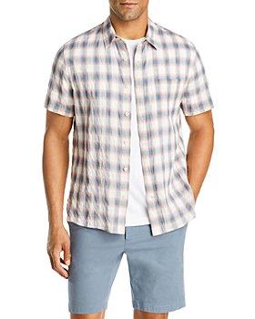Vince - Slim Fit Shadow Plaid Button Front Shirt
