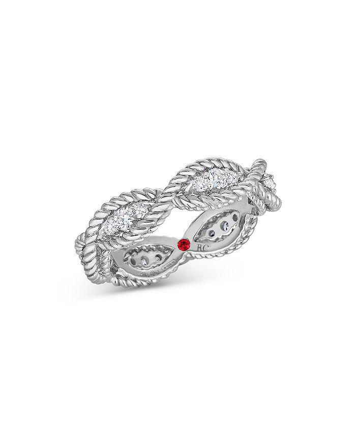 Roberto Coin - 18K White Gold New Barocco Diamond Twist Statement Ring