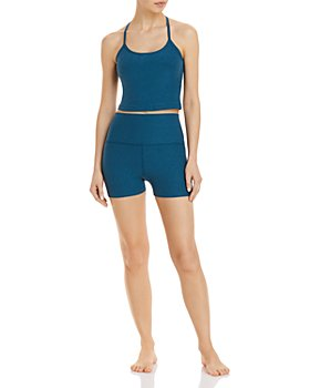 Beyond Yoga - Space Dye Racerback Cropped Top & All For Run Shorts