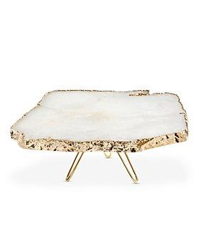 ANNA new york - Torta Cake Plate, Crystal & Gold