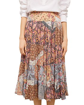 Gerard Darel - Lila Patchwork Midi Skirt
