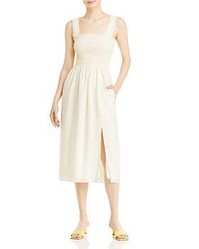 WAYF - Rashida Smocked Midi Dress