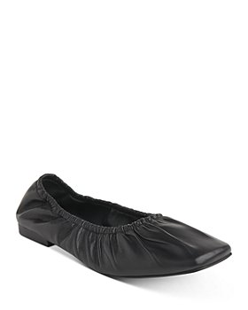 Whistles - Ione Soft Ruched Square Toe Flats