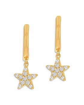 Moon & Meadow - Diamond Star Drop Earrings in 14K Yellow Gold, 0.17 ct. t.w. - 100% Exclusive
