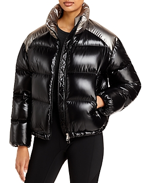 Moncler Cuscute Two Tone Cropped Puffer Jacket