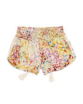 Vintage Havana - Girls' Smocked Waist Confetti Print Shorts - Big Kid