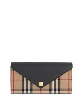 Burberry - Vintage Check & Leather Continental Wallet