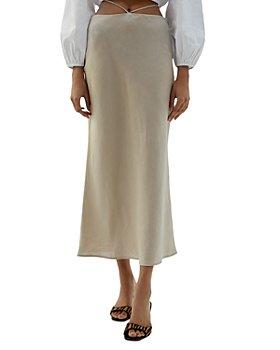 Musier - Linen Midi Skirt