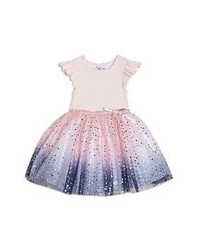 Pippa & Julie - Girls' Dip Dye Foil Star Dress - Little Kid