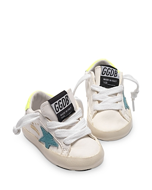 Golden Goose Deluxe Brand Unisex Super-star Low Top Sneakers - Baby In White Leat