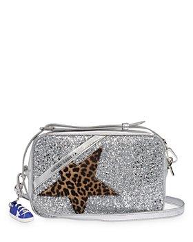 Golden Goose Deluxe Brand - Leopard Appliqué Glitter & Metallic Leather Star Bag