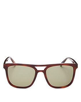 Saint Laurent - Men's Brow Bar Square Sunglasses, 56mm