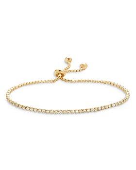 AQUA - Cubic Zirconia Tennis Slider Bracelet in 18K Gold Plate - 100% Exclusive