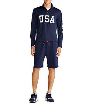Polo Ralph Lauren - Team USA Mesh Quarter Zip Pullover & 9.5-Inch Shorts