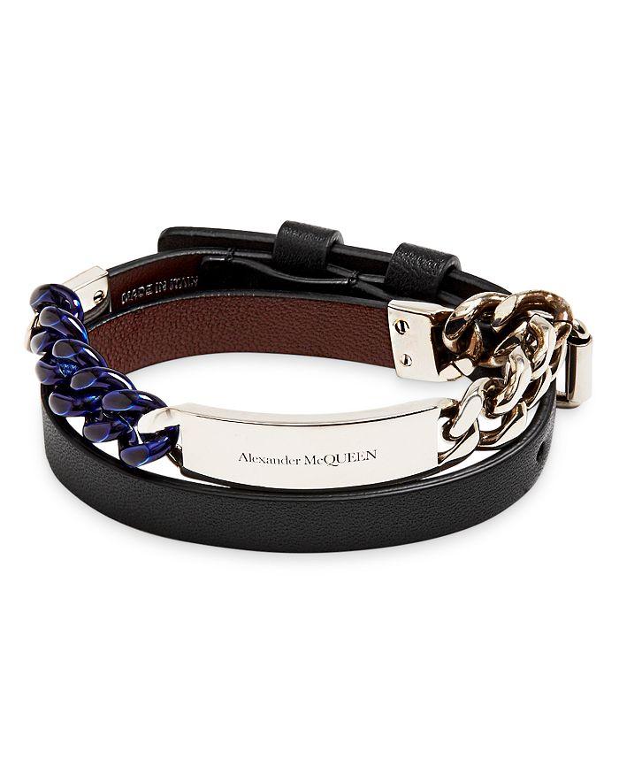 Alexander McQUEEN - Double Wrap Multi Chain Leather Strap Bracelet