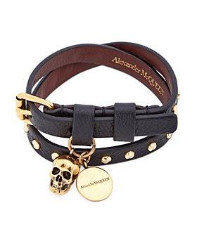 Alexander McQUEEN - Studded Leather Double Wrap Bracelet