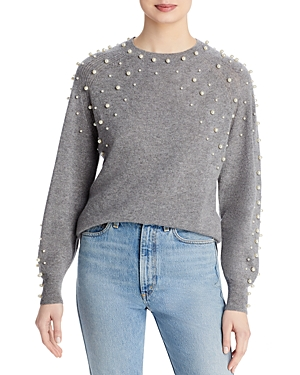 Faux Pearl Cashmere Sweater