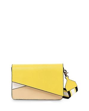 Crosstown Saffiano Leather Shoulder Bag