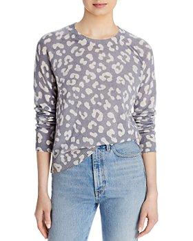 AQUA - Leopard Print Sweater - 100% Exclusive