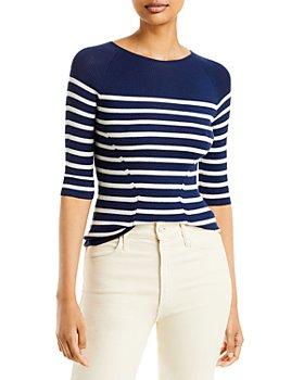 Lanvin - Cashmere & Silk Striped Sweater
