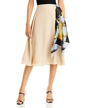 Lanvin - Silk Side Scarf Skirt