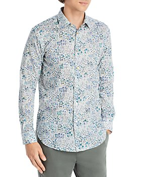 Paul Smith - Floral Print Slim Fit Sport Shirt