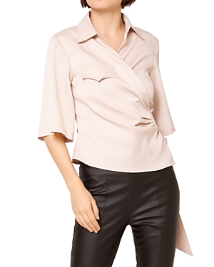 Belted Wrap Front Shirt (41% off) Comparable value $85