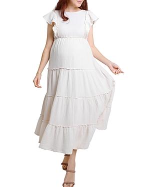 Whisper Tiered Maxi Maternity Dress