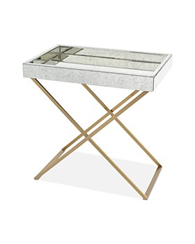 Global Views - Antique Finish Mirror Folding Tray Table