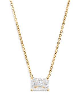 "Nadri - Modern Love Emerald Cut Pendant Necklace, 16""-18"""