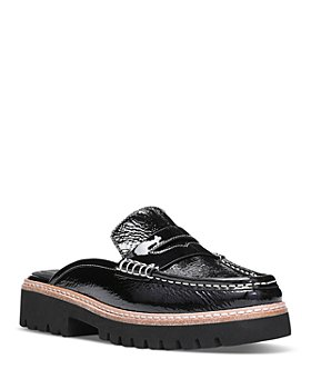Donald Pliner - Women's Tumbled Patent Leather Loafer Mules